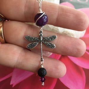 Jewelry - Dragonfly Aromatherapy Necklace 🌿